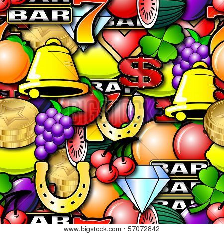 Repeating Fruit Machine Background