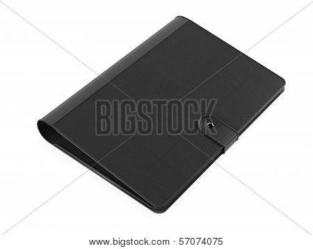 Leather folder purse isolated