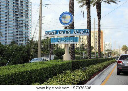 Sunny Isles Beach Sign