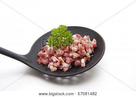 Bacon Cubes on Black Skimmer