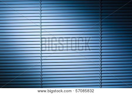 Venetian Blinds At Night