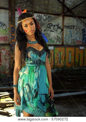Beautiful Indian Cherokee woman