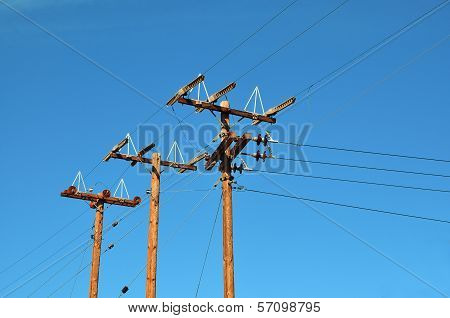 Wood Electricity Poles