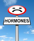 picture of hormones  - Illustration depicting a sign with a hormone concept - JPG