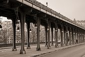 Viaduct de Passy, Parid in sepia