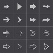 Vector black arrows icons set