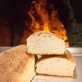 Freshly Baked Bread In The Traditional Way