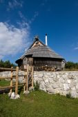 stock photo of velika  - Chalet in Velika Planina in Slovenia,