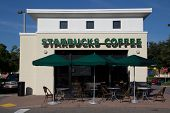 JACKSONVILLE, FL-SEP 21: Starbucks coffeehouse on September 21, 2013 in Jacksonville, Florida. Starb