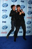 LOS ANGELES - JAN 14:  Harry Connick Jr, Keith Urban at the American Idol Season 13 Premiere Screeni