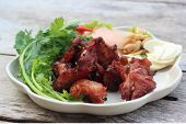 image of nem  - Deep fried Fermented pork rib  - JPG