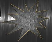 stock photo of iron star  - The template for the inscription - JPG