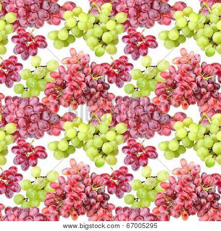 Seamless Pattern Of Grape