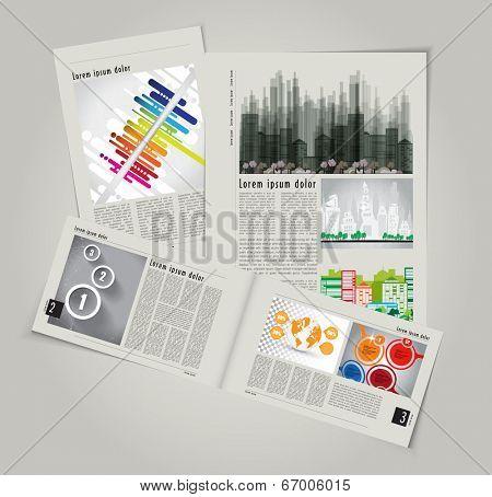 Modern Brochure Template Vector