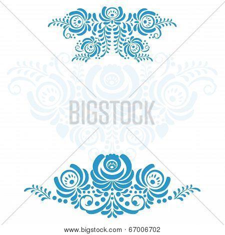 The set of elements Russian ornaments Gzhel