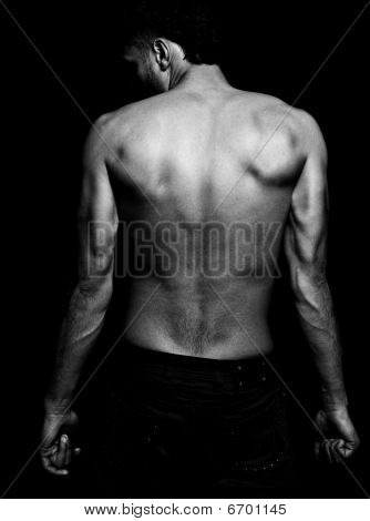 Lean Fit Man With Muscular Back