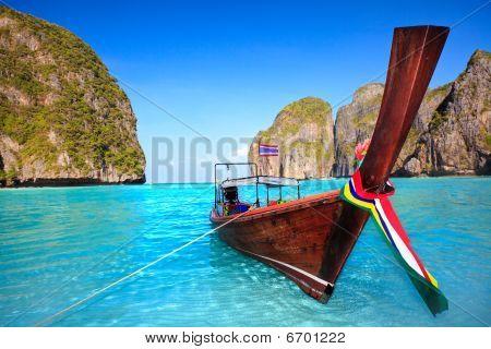 Longtail Boat At Maya Bay
