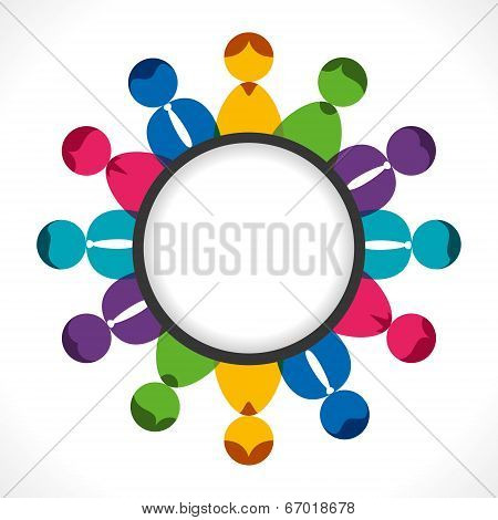 business people meeting concept, people arrange in round background