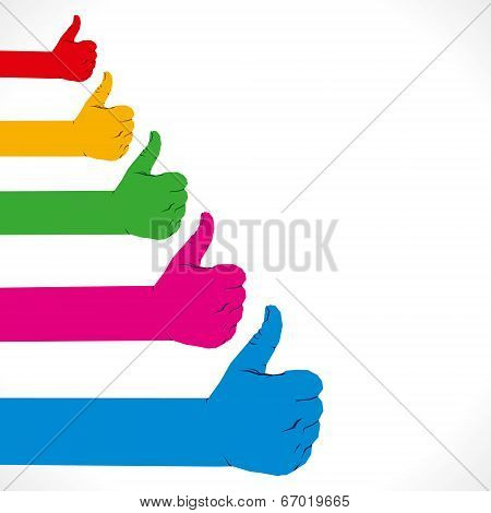 colorful like hand symbol vector