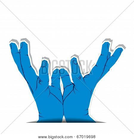 illustration of hand catching position stock  vector