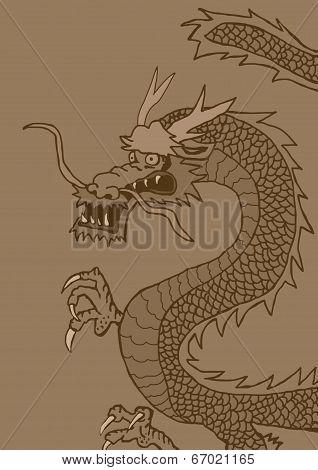 Vintage oriental dragon