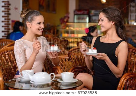 Woman In Cafe