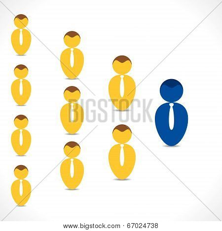 leadership concept background vector
