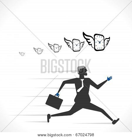 men run with time concept vector