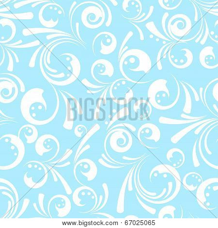Seamless Swirly Floral Background
