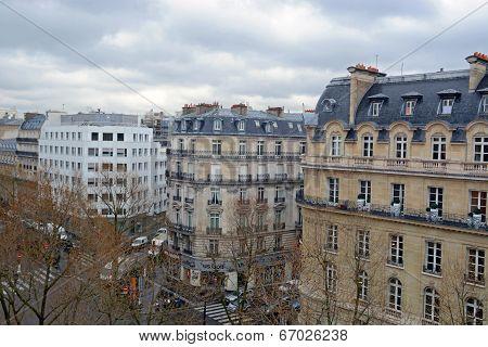 Generic building in Paris city