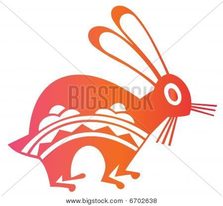 Chinese Paper-cut Of Hare Year