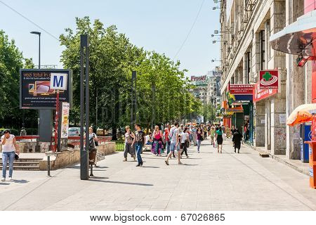 Crowd Of Busy People Going To Work
