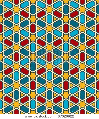 Moroccan geometric pattern. Vector seamless background.