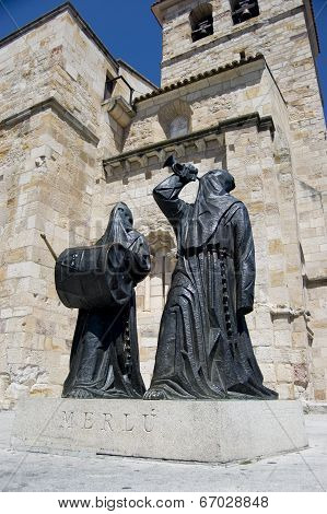 Penitents' monument, Zamora, Spain