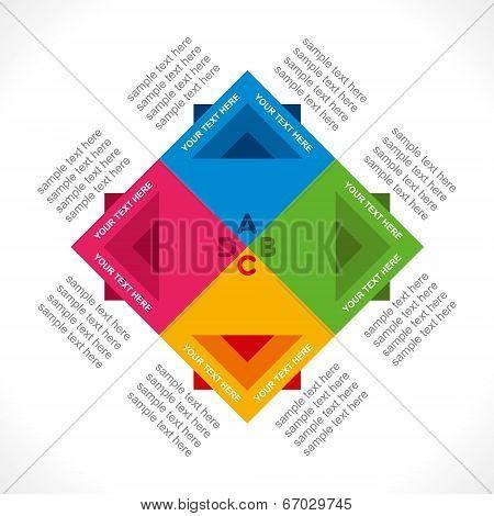 colorful square info-graphics design concept vector