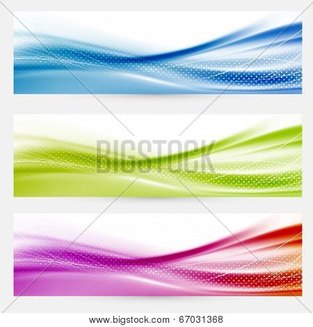 Bright Swoosh Lines Headers Footers Templates
