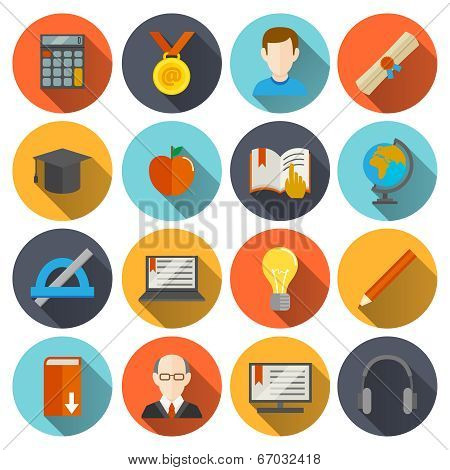 E-learning Icons Flat