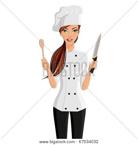 Woman chef portrait