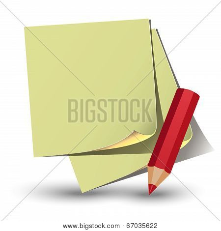 Yellow Paper Sticker