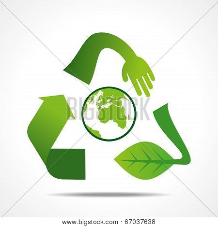 creative recycle shape design concept