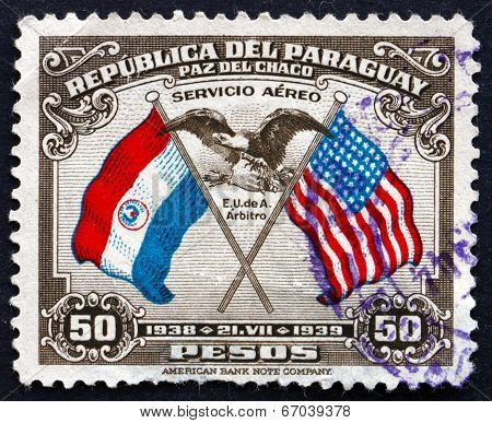 Postage Stamp Paraguay 1939 Us Eagle And Shield