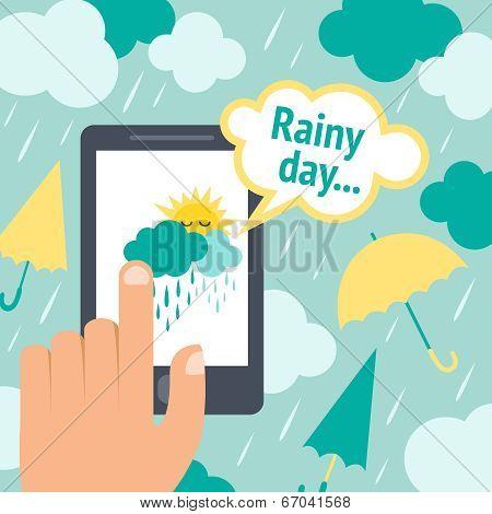 Weather smart phone rain