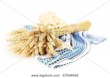 Sheaf of wheat isolated on white