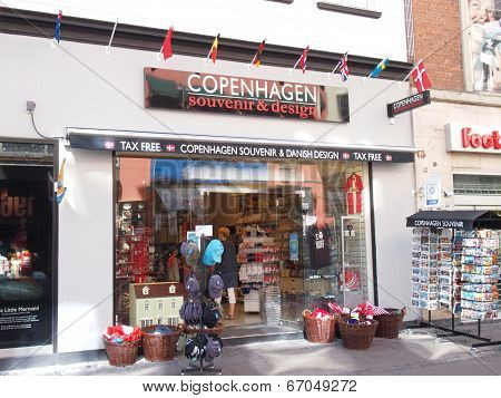 souvenir shop of danish designs in copenhagen denmark