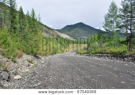 Soil Highway In Yakutia.