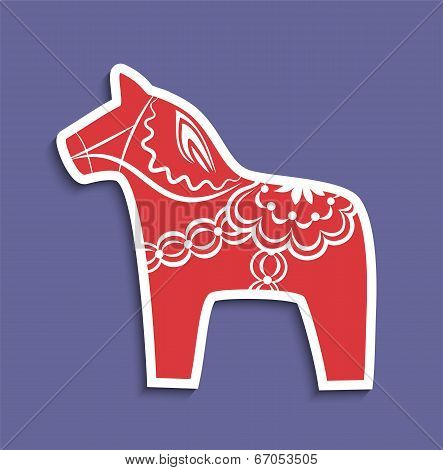 Traditional Dala Horse Of Sweden