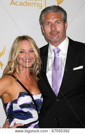 LOS ANGELES - JUN 19:  Sharon Case, date at the ATAS Daytime Emmy Nominees Reception at the London Hotel on June 19, 2014 in West Hollywood, CA