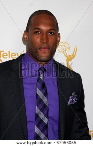 LOS ANGELES - JUN 19:  Lawrence Saint-Victor at the ATAS Daytime Emmy Nominees Reception at the London Hotel on June 19, 2014 in West Hollywood, CA