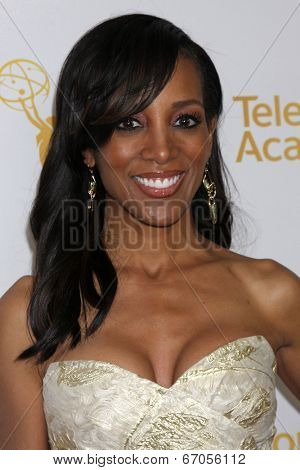 LOS ANGELES - JUN 19:  Shaun Robinson at the ATAS Daytime Emmy Nominees Reception at the London Hotel on June 19, 2014 in West Hollywood, CA