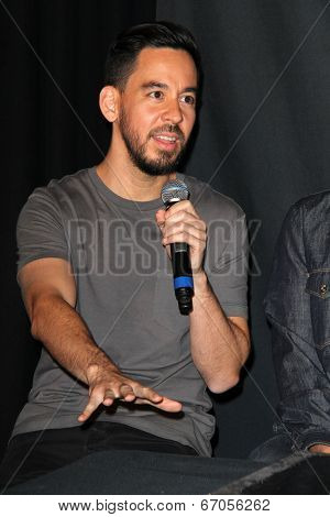 LOS ANGELES - JUN 18:  Mike Shinoda at the Linkin Park Rockwalk Inducting Ceremony at the Guitar Center on June 18, 2014 in Los Angeles, CA